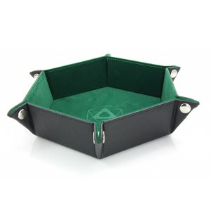 Die Hard Dice Die Hard Dice: Folding Hex Dice Tray - Green