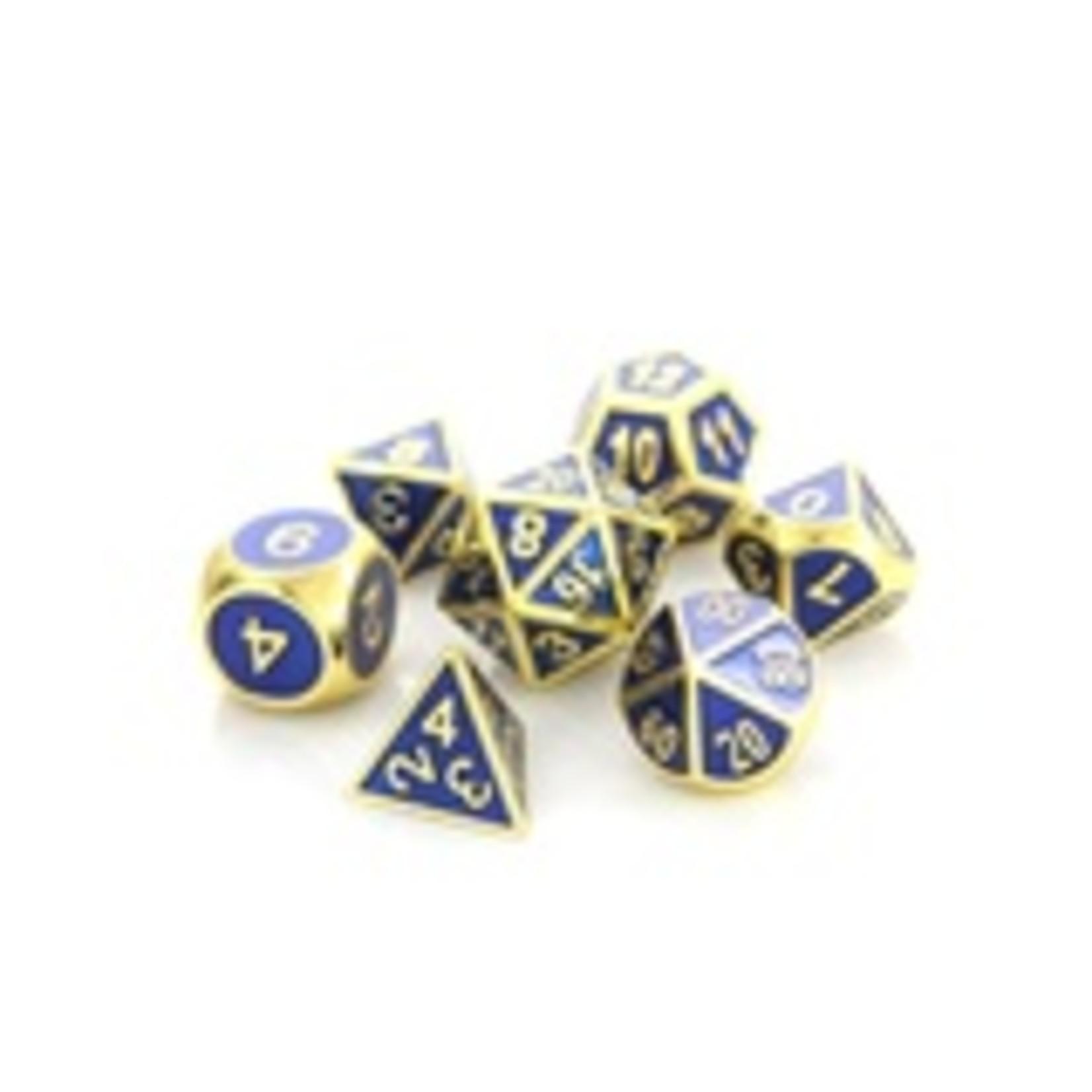 Die Hard Dice Die Hard Dice: Polyhedral Metal Dice Set - Gemstone Gold Sapphire