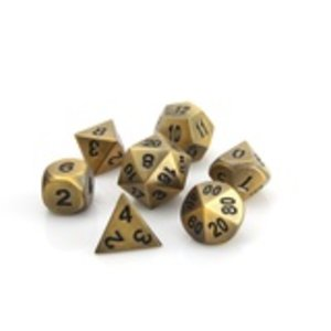 Die Hard Dice Die Hard Dice: Polyhedral Metal Dice Set - Battleworn Gold