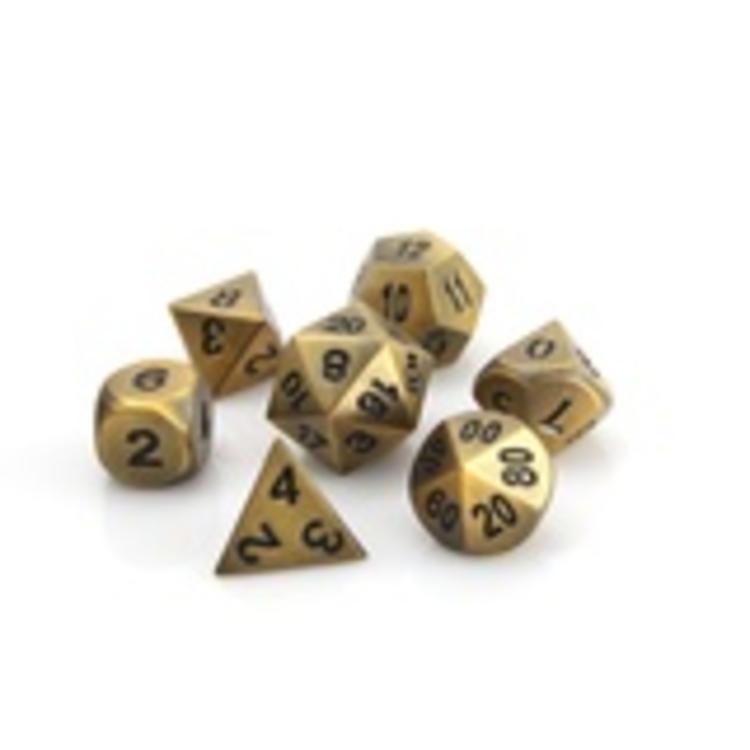 Die Hard Dice Die Hard Dice: Polyhedral Metal Dice Set - Battleworn Gold