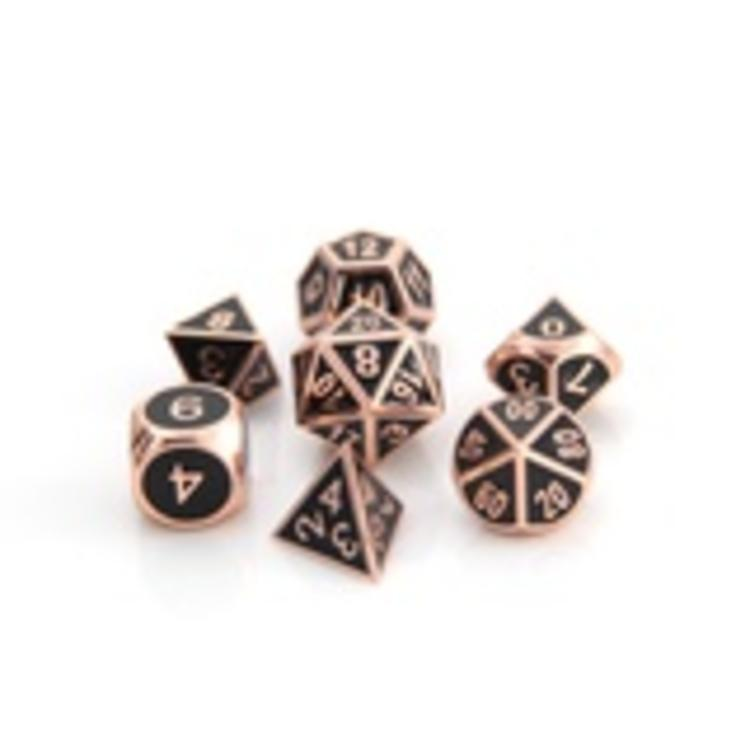 Die Hard Dice Die Hard Dice: Gothica Metal Dice Set - Shiny Copper/Black