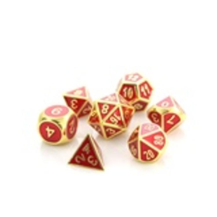 Die Hard Dice Die Hard Dice: Polyhedral Metal Dice Set - Gemstone Gold Ruby