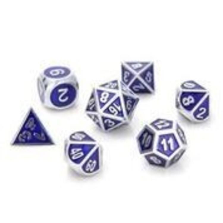 Die Hard Dice Die Hard Dice: 7-Set: Gemstone Silver Sapphire