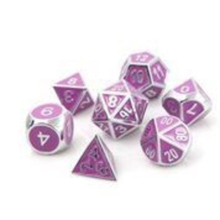 Die Hard Dice Die Hard Dice: 7-Set: Silver w/ Lt Purple