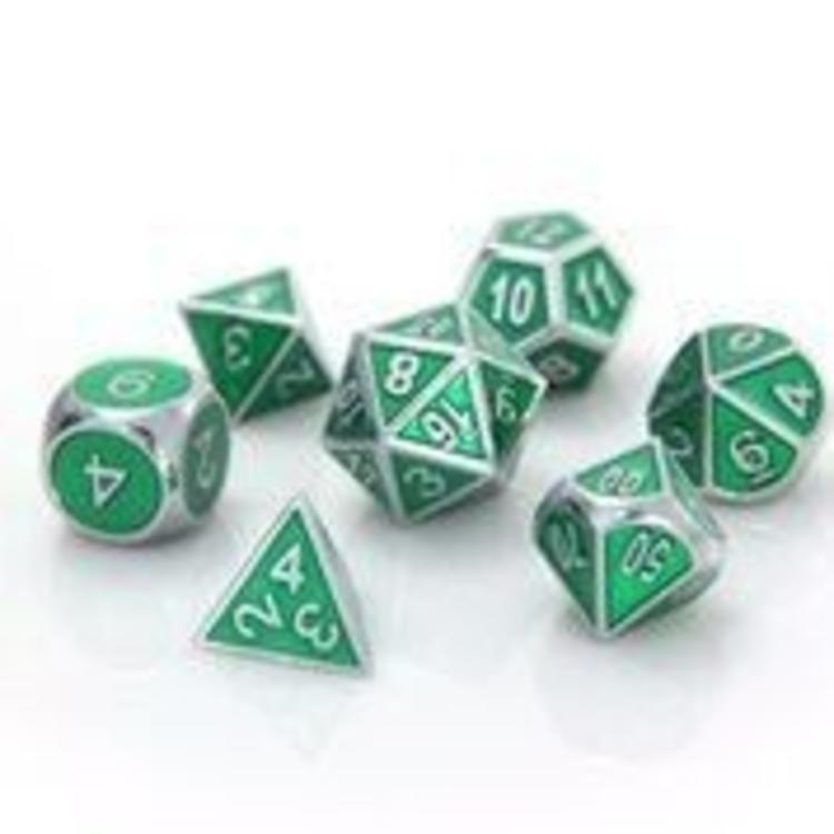 Die Hard Dice Die Hard Dice: 7-Set: Silver Emerald