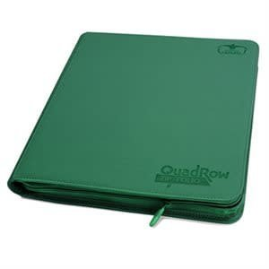 Ultimate Guard Ultimate Guard: 9-Pocket Quadrow Card Binder Zipfolio - Xenoskin Green
