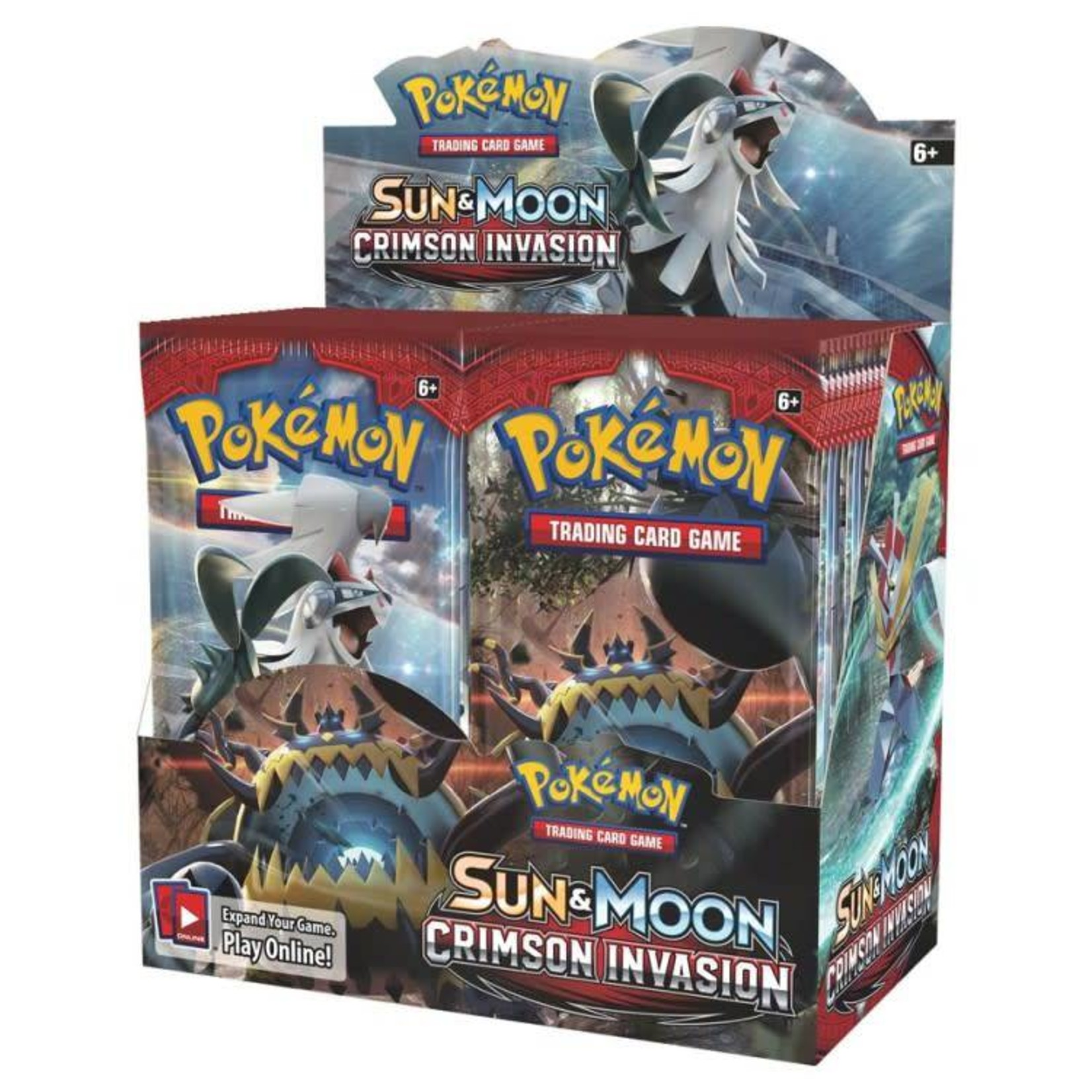Pokemon International Pokemon Crimson Invasion booster display