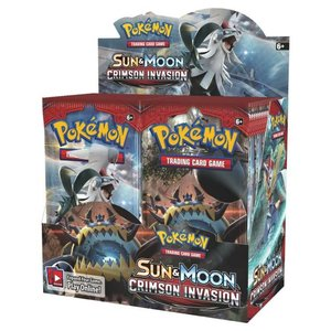 Pokemon International Pokemon Crimson Invasion booster display