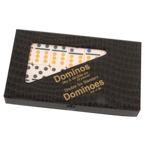 WorldWise Imports Dominoes: Double Six Color Dot