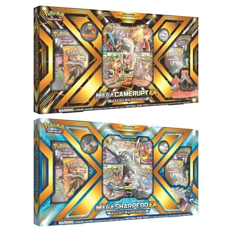 Pokemon International Pokemon Trading Card Game: Mega Camerupt/Sharpedo EX Box