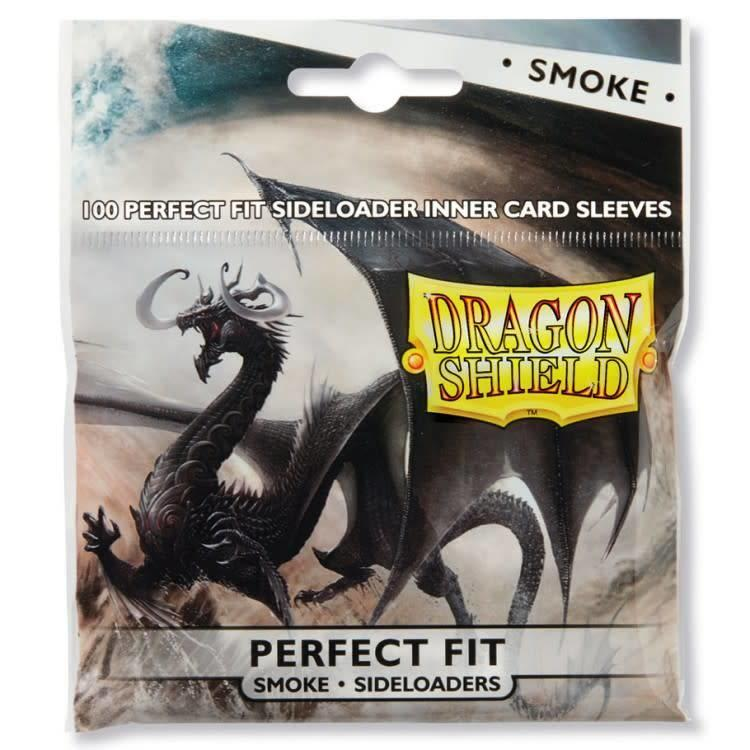 Arcane Tinman Dragon Shield: Perfect Fit Cards Sleeves - Side-load Smoke (100)