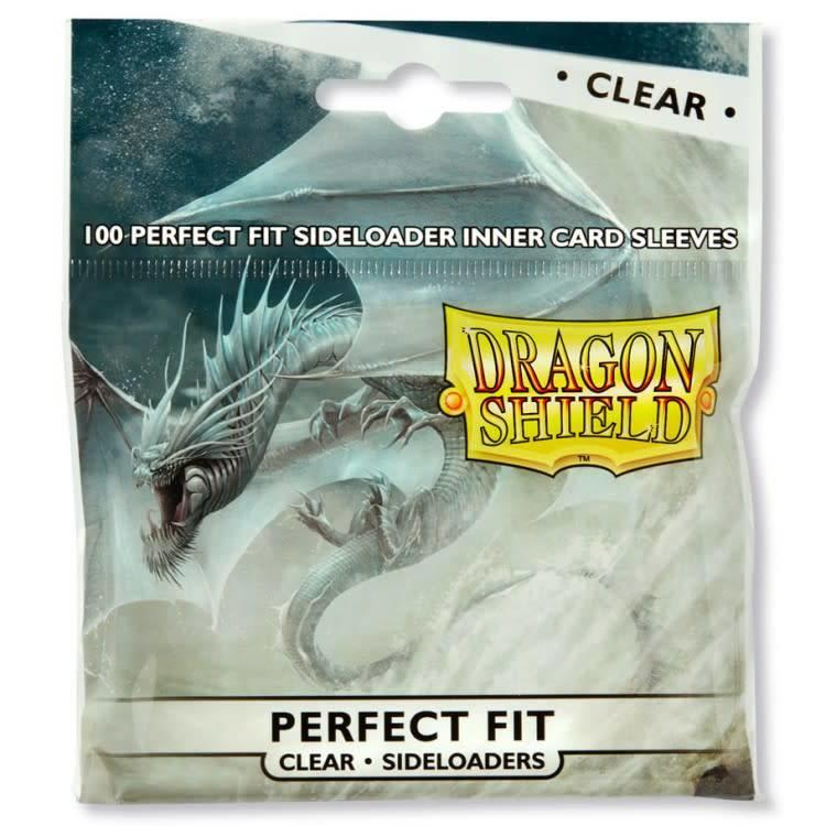 Arcane Tinman Dragon Shield: Perfect Fit Cards Sleeves - Side-load Clear (100)