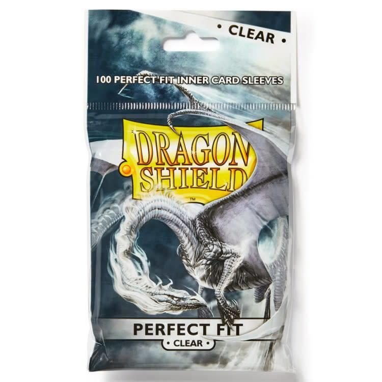Arcane Tinman Dragon Shield: Perfect Fit Cards Sleeves - Clear (100)