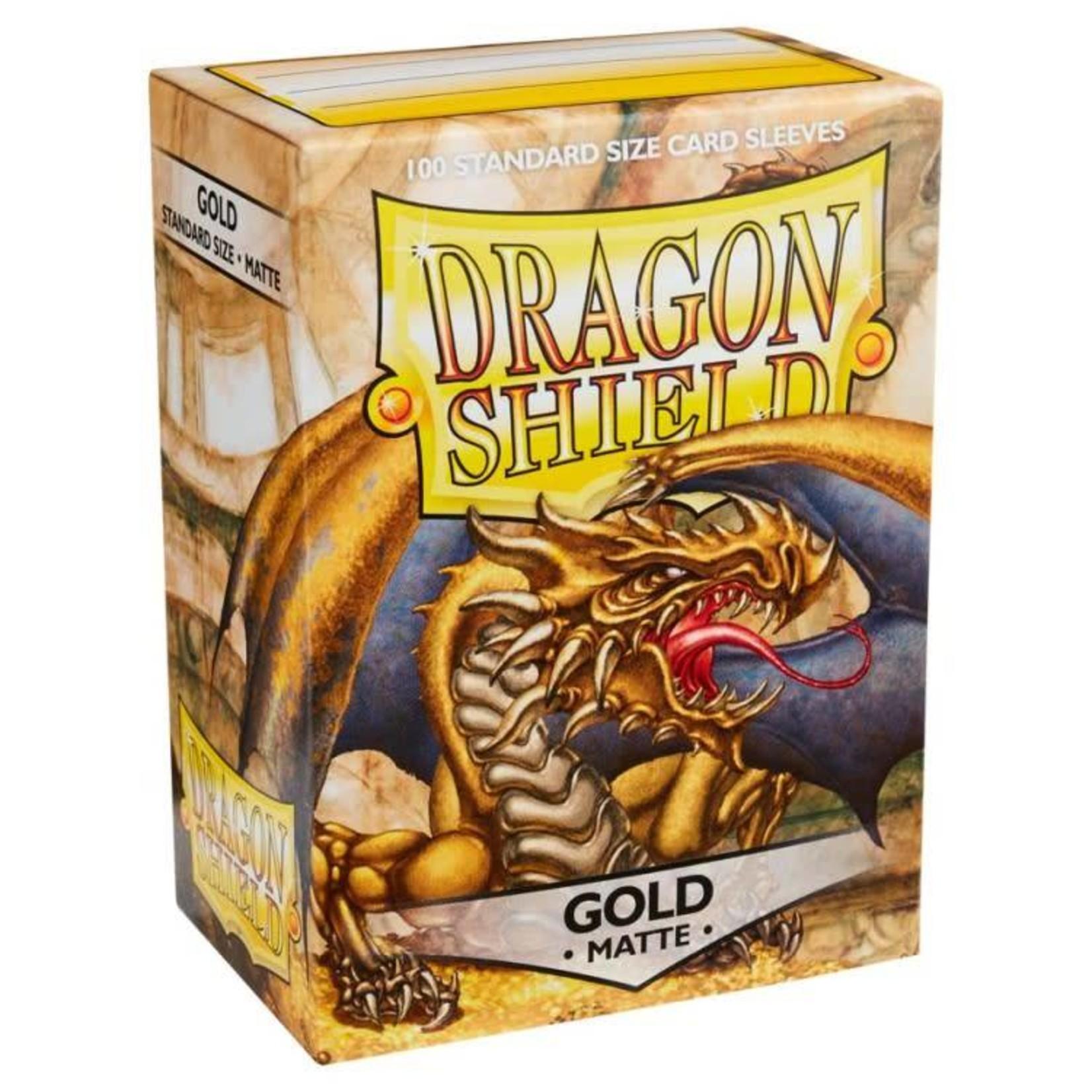 Arcane Tinman Dragon Shields: Cards Sleeves -  Gold Matte (100)
