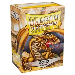 Arcane Tinman Dragon Shields: Cards Sleeves -  Gold Matte (100)