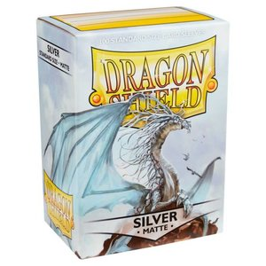 Arcane Tinman Dragon Shields: Cards Sleeves - Silver Matte (100)