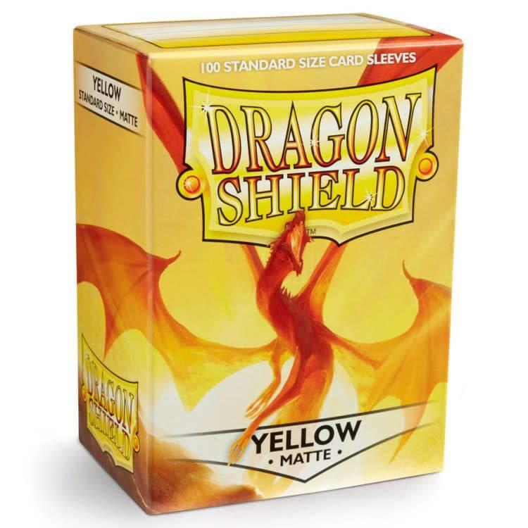 Arcane Tinman Dragon Shields: Card Sleeves - Yellow Matte (100)