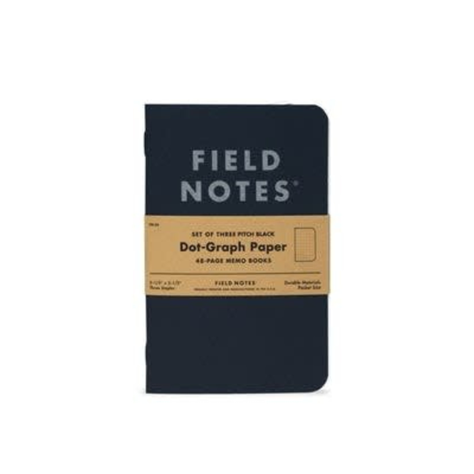 Field Notes Field Notes Pitch Black Small Dot