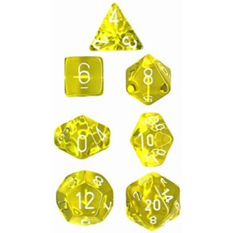 Chessex Chessex: 23002 Polyhedral Dice Set - Yellow with White