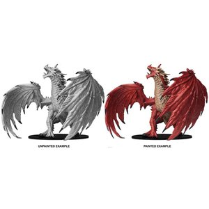 WizKids Pathfinder Battles Deep Cuts Unpainted Miniatures: Gargantuan Red Dragon (W6)