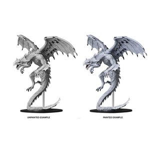 WizKids Pathfinder Battles Deep Cuts Unpainted Miniatures: Gargantuan White Dragon (W6)