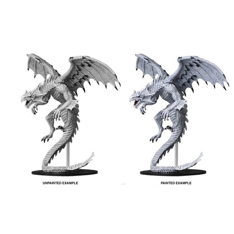 WizKids Pathfinder Battles Deep Cuts Unpainted Miniatures: Gargantuan White Dragon (W6)