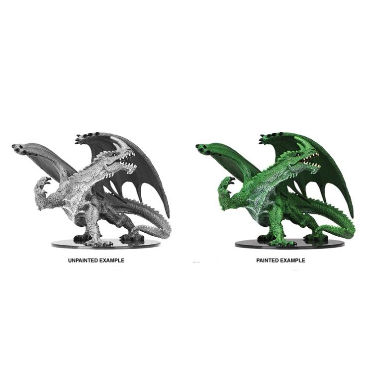 WizKids Pathfinder Battles Deep Cuts Unpainted Miniatures: Gargantuan Green Dragon (W6)