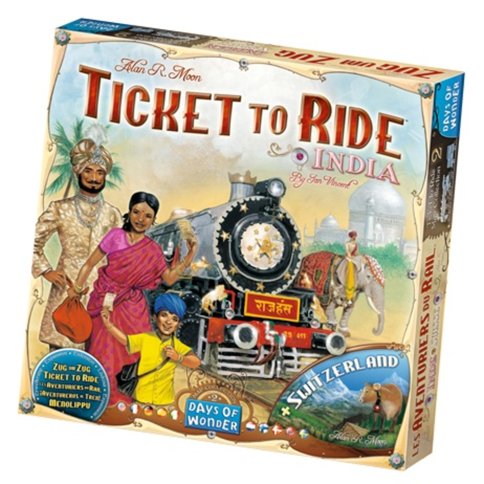 Days of Wonder Ticket to Ride: India Expansion Map