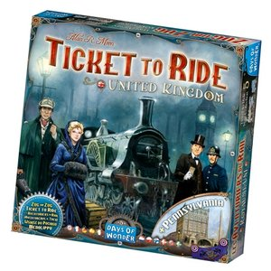 Days of Wonder Ticket to Ride: UK/Pennsylvania Expansion Map