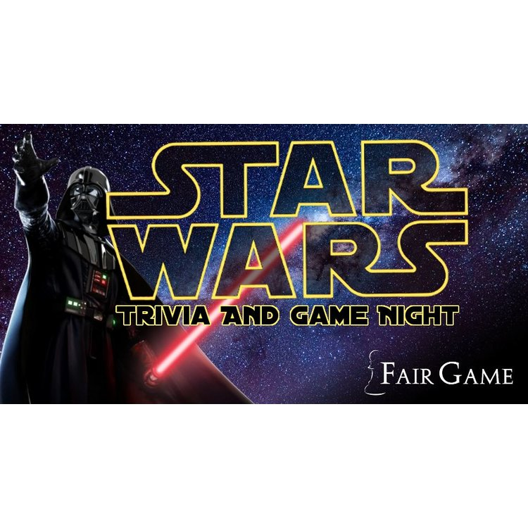 Star Wars Trivia and Game Night - March 16 (2 Participants)