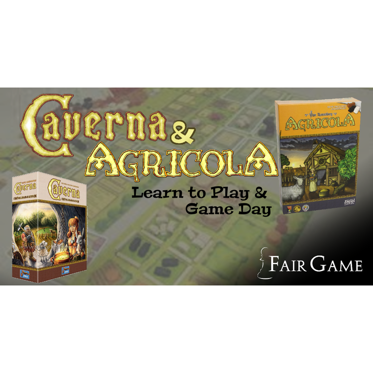 Admission - Caverna and Agricola Learn to Play  and Game Day