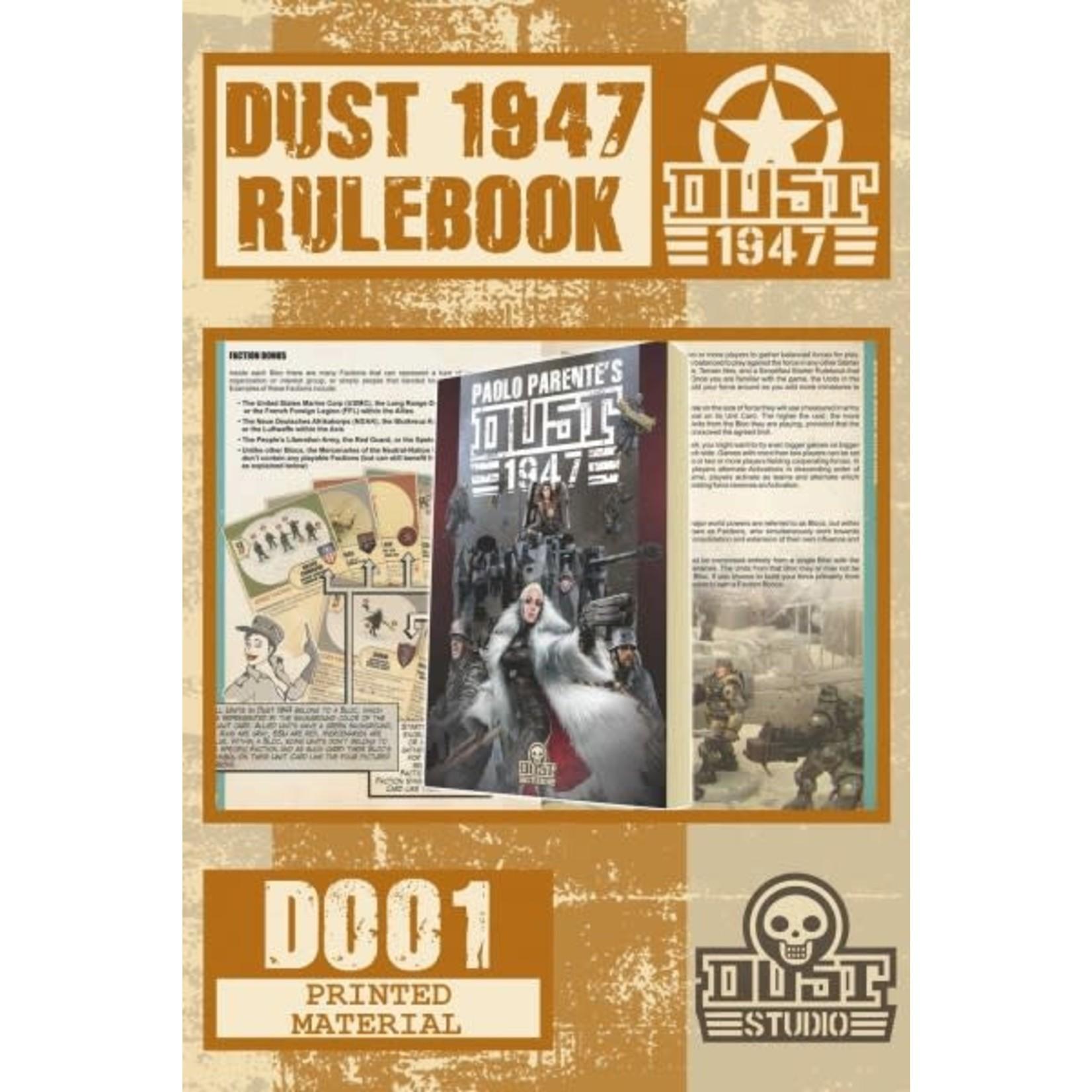 Dust Dust 1947 Rulebook