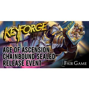Fantasy Flight Games Admission: Keyforge Age of Ascension Chainbound Sealed Event - La Grange
