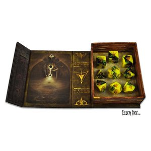 Infinite Black Elder Dice: RPG Set: Yellow Sign (9)