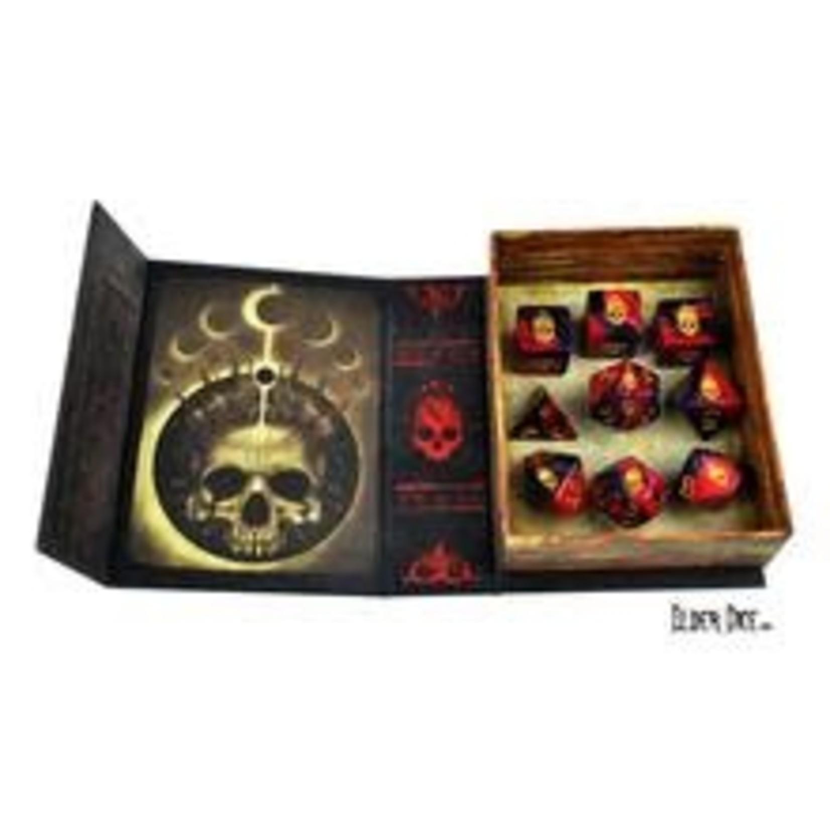 Infinite Black Elder Dice: RPG Set: Mark of Necronomicon (9)