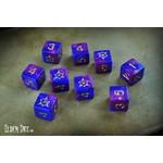 Infinite Black Elder Dice: d6 Set: Sigil of Dreamlands (9)