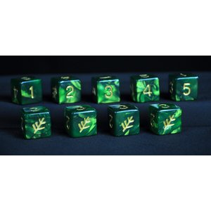 Infinite Black Elder Dice: d6 Set: Lovecraft Elder (9)