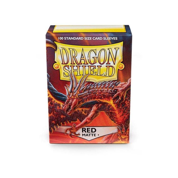 Arcane Tinman Dragon Shields: Cards Sleeves -  Red Matte (100)