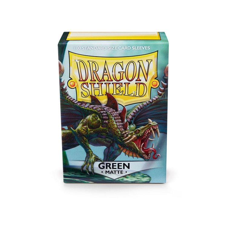 Arcane Tinman Dragon Shields: Cards Sleeves -  Green Matte (100)