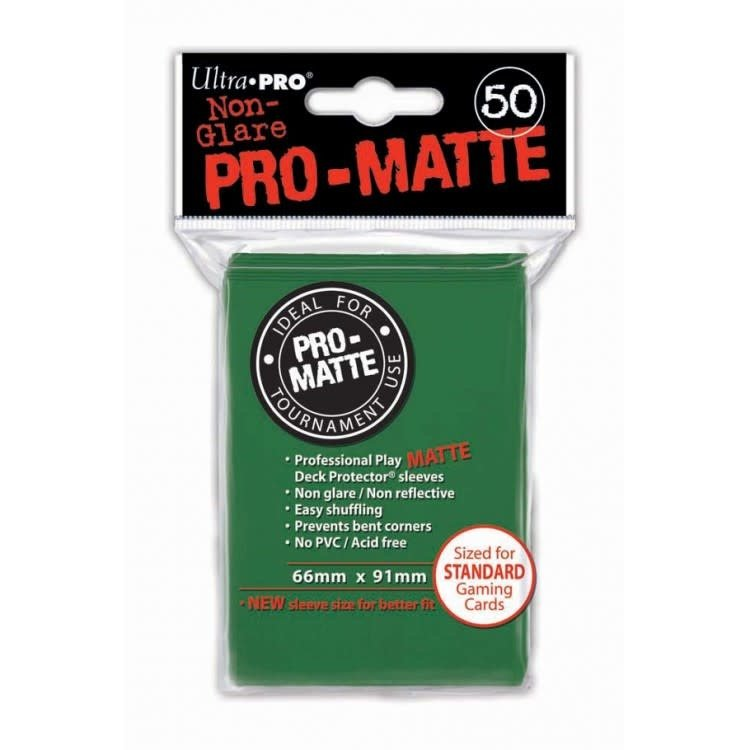 Ultra Pro Ultra Pro: Card Sleeves - Green Matte (50)