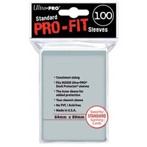 Ultra Pro Ultra Pro: Pro Fit Clear Card Sleeves (100)