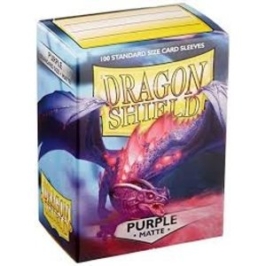 Arcane Tinman Dragon Shields: Card Sleeves - Matte Purple (100)