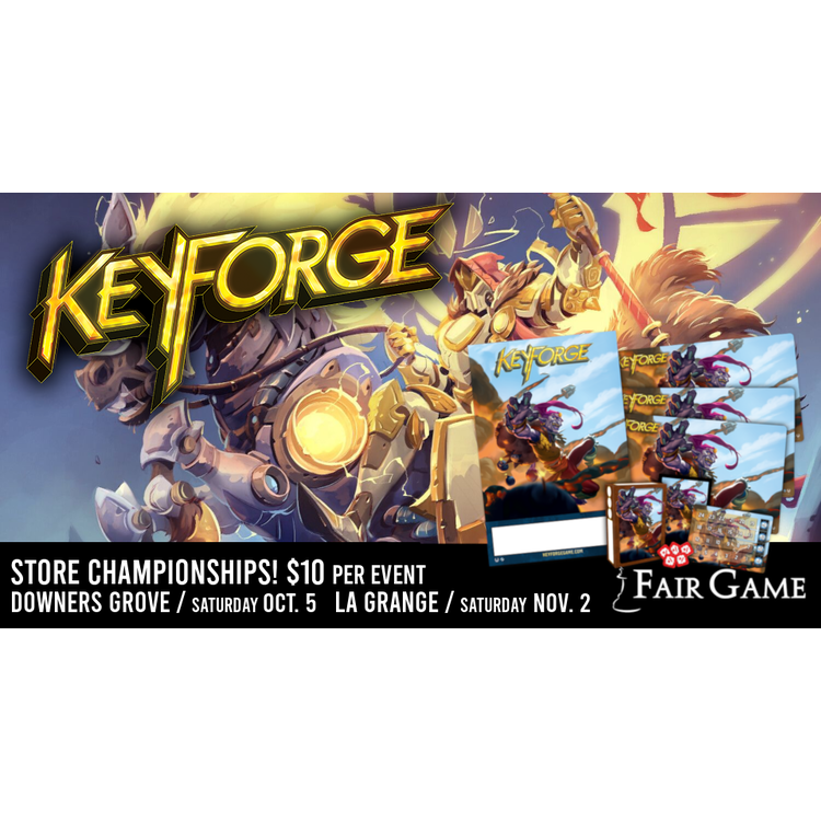 Fantasy Flight Games Admission: Keyforge 2019 Store Championships November 23 (Downers Grove)