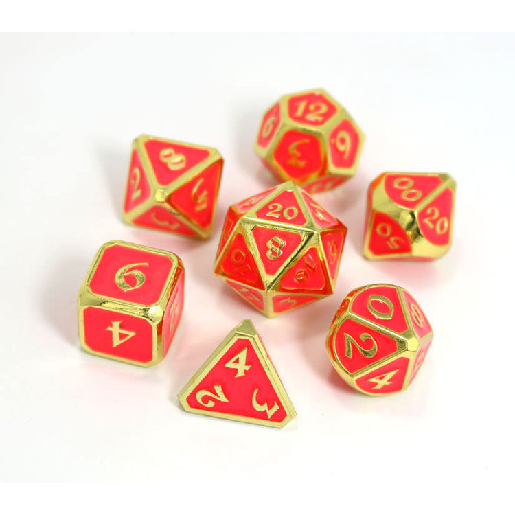 Die Hard Dice Die Hard Dice: Polyhedral Metal Dice Set - AfterDark Neon Bloom