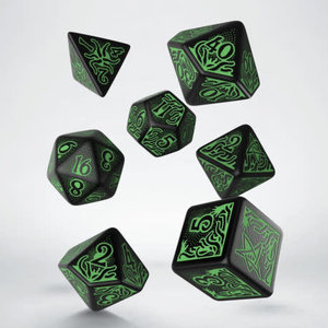 Q Workshop Q Workshop: Call of Cthulhu Polyhedral Dice Set - Black/Green