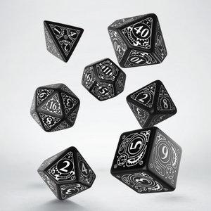 Q Workshop Q Workshop: Steampunk Polyhedral Dice Set - White/Black