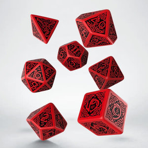 Q Workshop Q Workshop Celtic red/black dice set