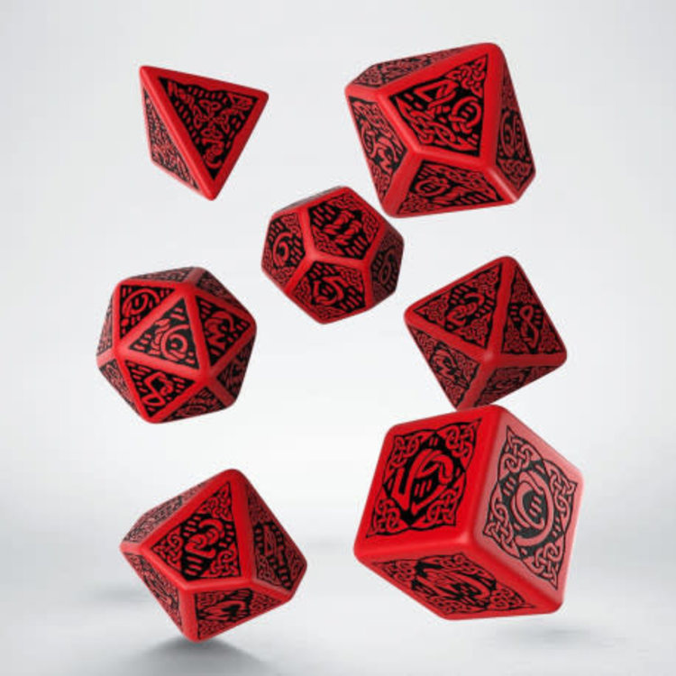 Q Workshop Q Workshop Celtic red/black dice set