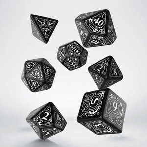 Q Workshop Q Workshop: Polyhedral Dice Set - Classic Black/White