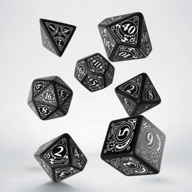 Q Workshop Q Workshop: Polyhedral Dice Set - Classic Black/White